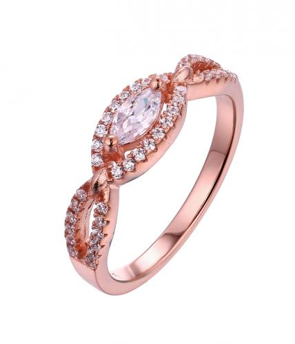 Rose Gold CZ Stackable Infinity 925 Sterling Silver Ring FL13109H