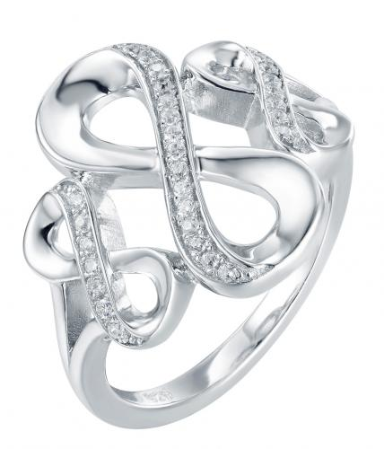 Rhodium CZ Infinity 925 Sterling Silver Ring FL23903A
