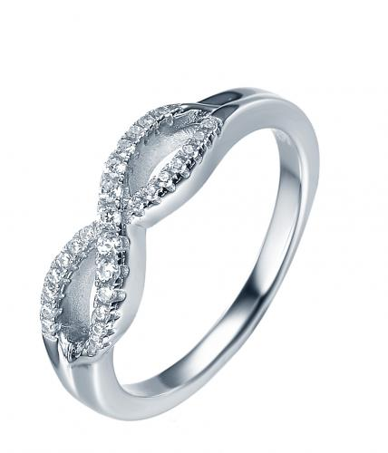 Rhodium CZ Infinity 925 Sterling Silver Ring FL32002A