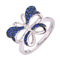 Black Gold Spinel Butterfly Animal 925 Sterling Silver Ring FL55801A