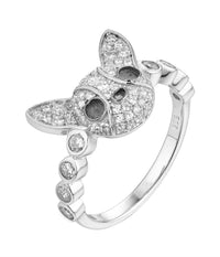 Rhodium CZ Animal 925 Sterling Silver Ring FL56403E