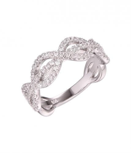 Rhodium CZ Infinity 925 Sterling Silver Ring FL58907A