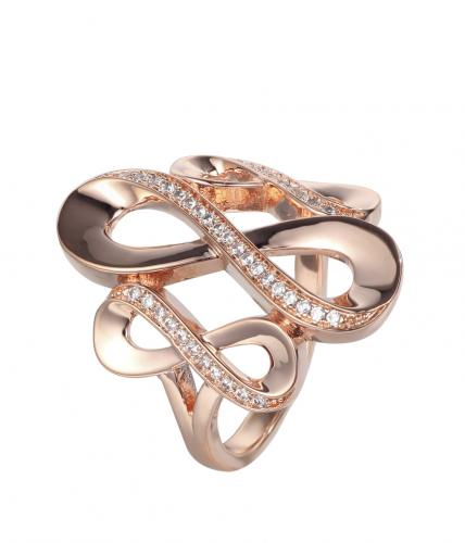 Copper CZ Infinity 925 Sterling Silver Ring FL236Z9A