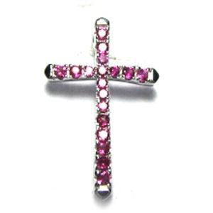 Black Gold CZ Cross 925 Sterling Silver Necklace FP02202B