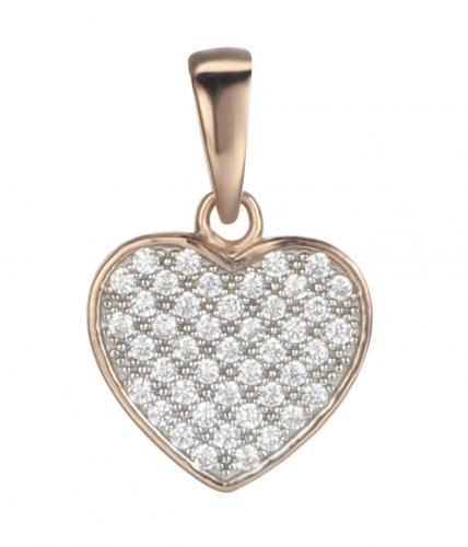 Rose Gold CZ Heart 925 Sterling Silver FP03200C