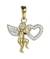 Yellow Gold CZ Angel Fashion 925 Sterling Silver FP03709I