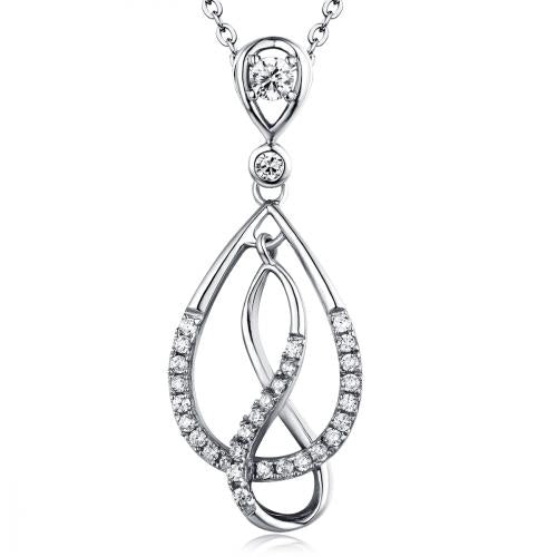 Rhodium CZ Infinity 925 Sterling Silver Necklace FP11502A