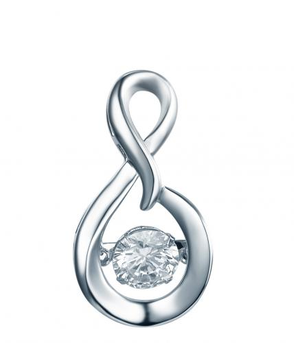 Rhodium Topaz Infinity Dancing 925 Sterling Silver Necklace FP23300P
