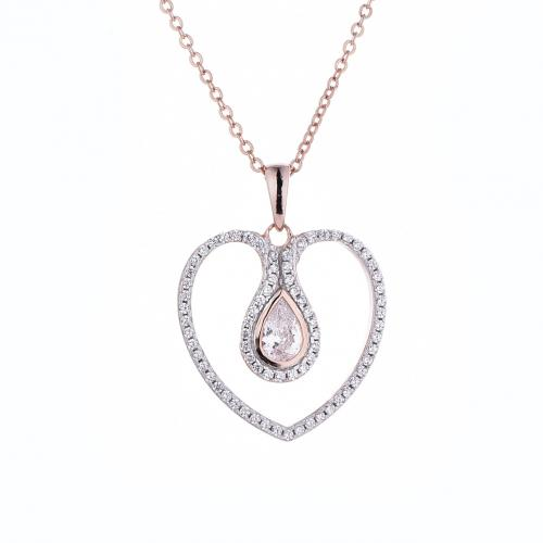 Rose Gold CZ Heart 925 Sterling Silver FP51405C