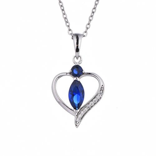 Rhodium Spinel Heart 925 Sterling Silver FP51500A