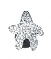 Rhodium Pearl Star Fashion 925 Sterling Silver Necklace FP002D7A