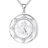 Rhodium Locket Christopher Character 925 Sterling Silver Necklace NN13004A