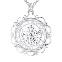 Rhodium Christopher Character 925 Sterling Silver Necklace NN12904A