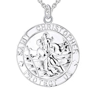 Rhodium Christopher Character 925 Sterling Silver Necklace NN12905A