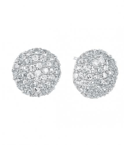 Rhodium Stud Ball 925 Sterling Silver Earring HE01503A