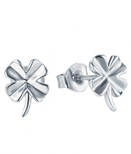 Rhodium Stud Clover Fashion 925 Sterling Silver Earring HE20206B
