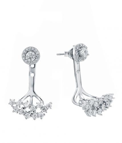 Rhodium CZ Jackets 925 Sterling Silver Earring HE37104A