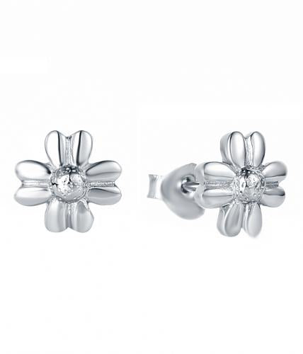 Rhodium Stud Daisy Fashion 925 Sterling Silver Earring HE018B9A