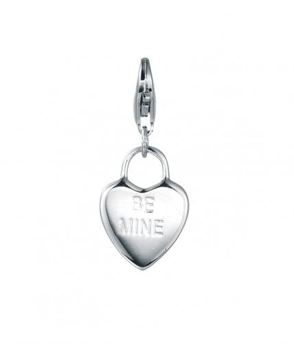 Rhodium Heart 925 Sterling Silver Necklace HP03009A