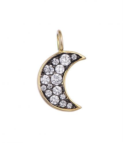 Rhodium  Moon Fashion 925 Sterling Silver Necklace HP49008A