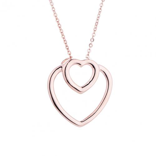 Rose Gold Heart 925 Sterling Silver Necklace HP046D1B
