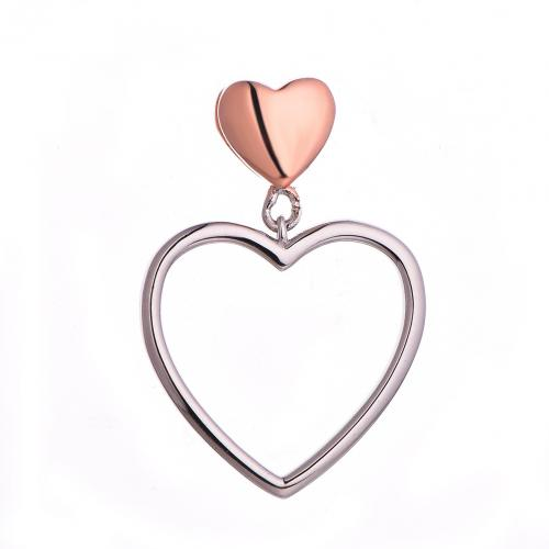 Rhodium Heart 925 Sterling Silver Necklace HP062D0A