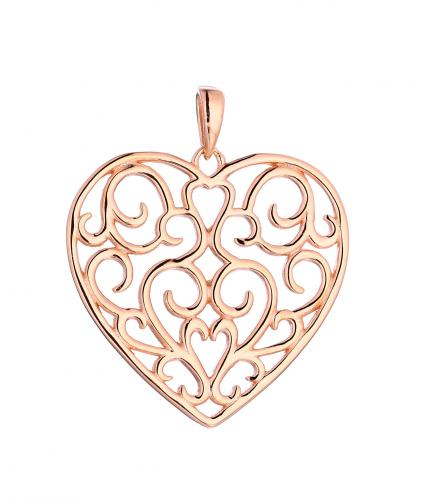 Rose Gold Heart 925 Sterling Silver Necklace HP067D1B