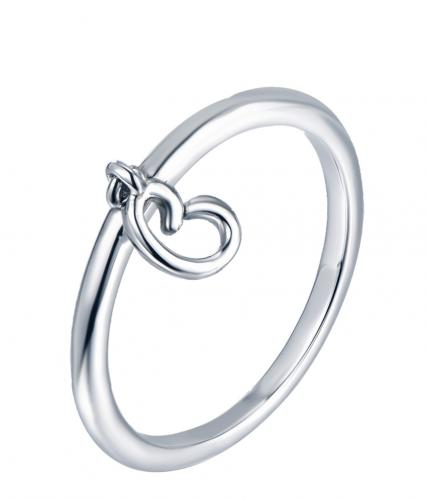 Rhodium Letter Fashion 925 Silver Jewelry Ring HR13807C