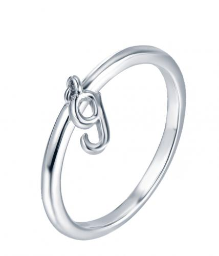 Rhodium Letter Fashion 925 Silver Jewelry Ring HR13901C