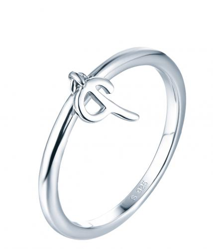 Rhodium Letter Fashion 925 Silver Jewelry Ring HR14000C