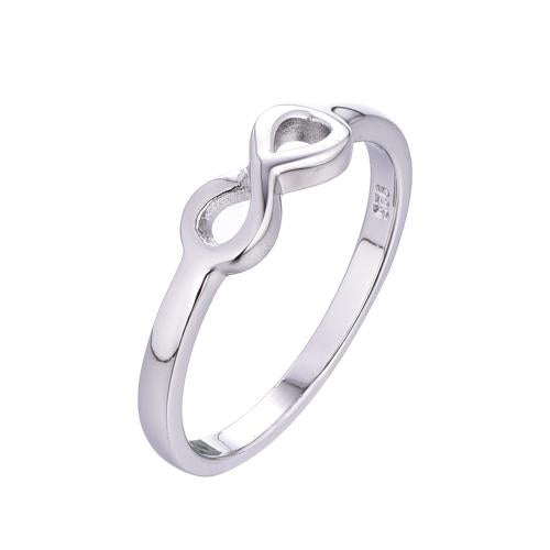 Rhodium Infinity 925 Sterling Silver Ring HR15308A