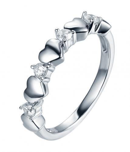 Rhodium CZ Eternity Wedding 925 Sterling Silver HR39503A