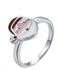 Rhodium Enamel Character 925 Silver Jewelry Ring HR42601A