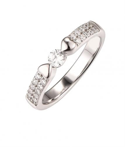 White Gold CZ Eternity Wedding 925 Sterling Silver HR50301C