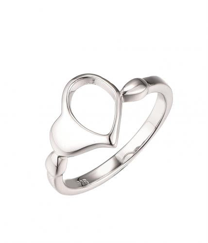 Rhodium Plain Wedding 925 Silver Jewelry Ring HR61200A