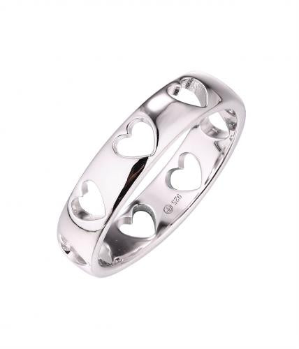 Rhodium Plain Wedding 925 Silver Jewelry Ring HR62008A