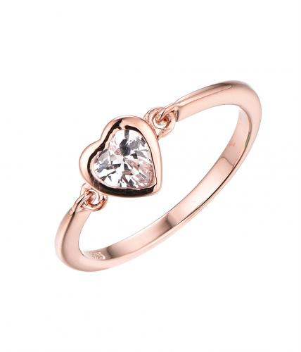 Rose Gold CZ Heart 925 Sterling Silver HR63305B