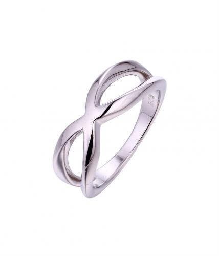 Rhodium Infinity 925 Sterling Silver Ring HR030B8A