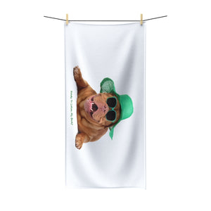 "Club Gear ""Lotion My Back"" Beach Towel - Canine Cardio"