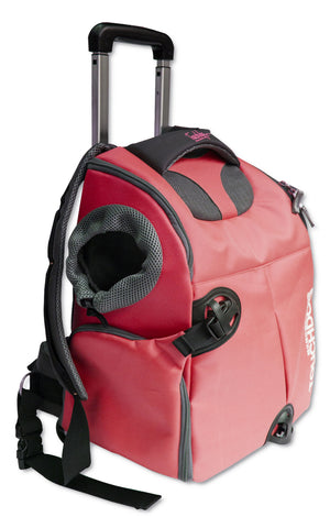 Wuffle Duffle Wheeled Backpack Pet Carrier - Canine Cardio