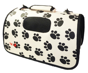 Sporty Paw Print Pet Carrier- Airline Approved - Canine Cardio