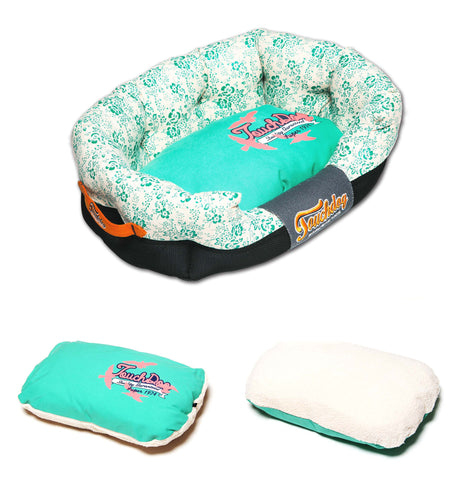 Touchdog Ultra Plush Designer Dog Bed-Floral Galore - Canine Cardio