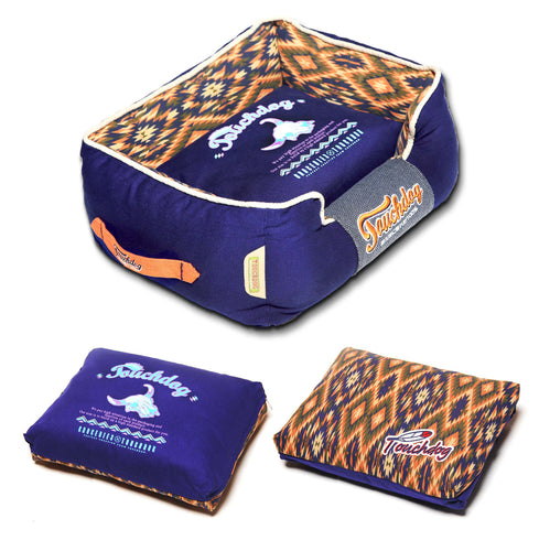 Ultra Plush Vintage Tribal Throwback Dog Bed-Boxed - Canine Cardio