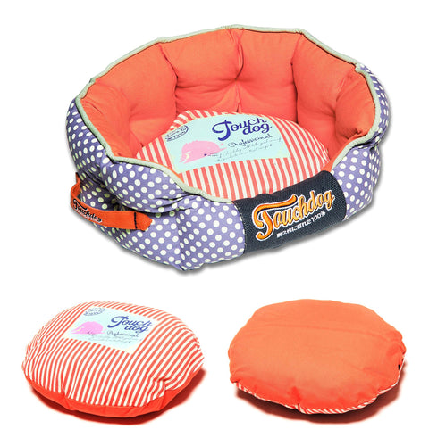 Touchdog Fashion Dog Bed-Polka Striped Polo - Canine Cardio