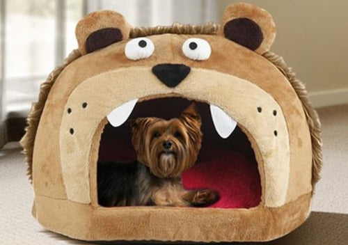Roar Bear! Snuggle Plush Dog Bed - Canine Cardio