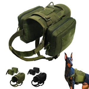 Tactical K9 Harness with Detachable Pouches - Canine Cardio
