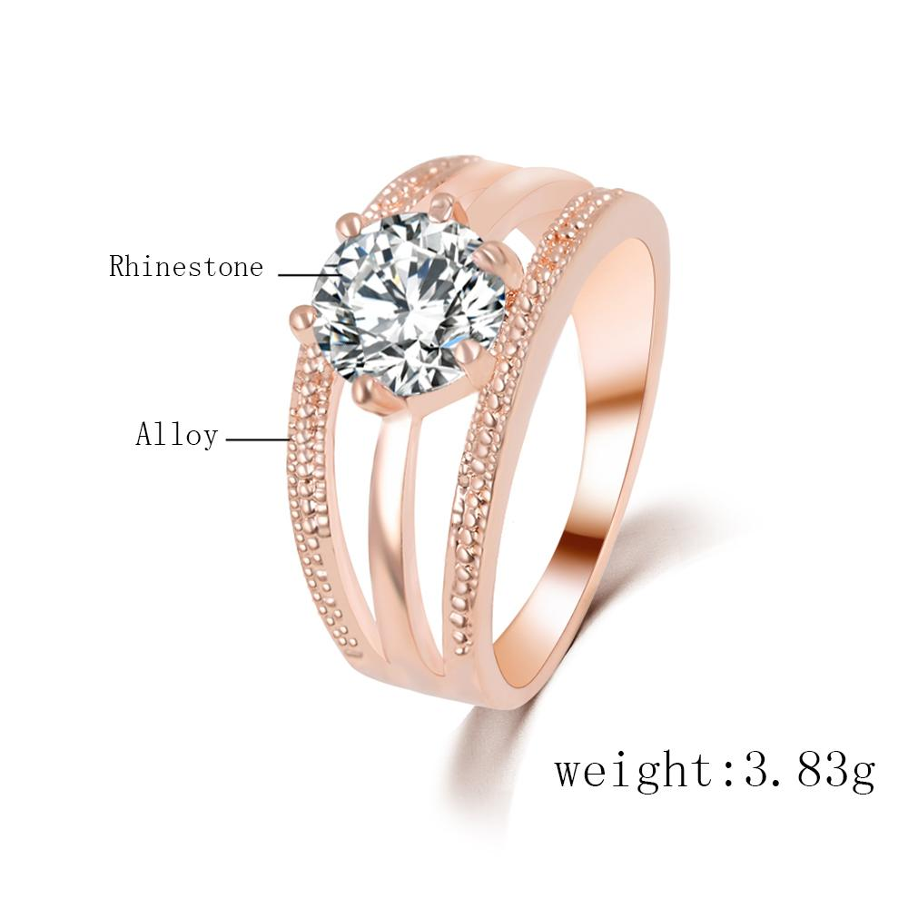 Austrian Crystal Ring Anelli Flower Engagement Women Ring