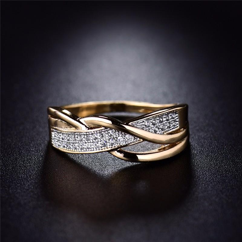 Women Rings Valentine Present Fashion Spiral Promise Jewelry