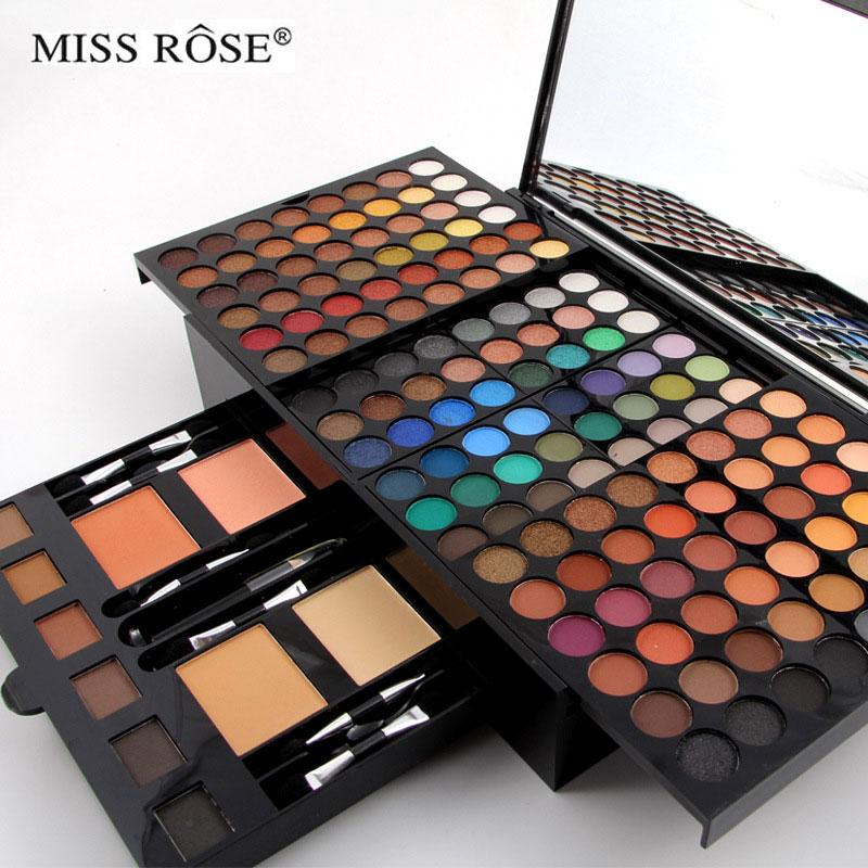 180 colors eyeshadow palette with brush mirror Shrink case