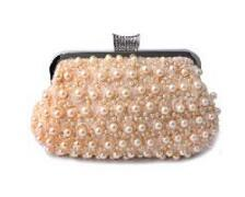 Evening Bag Women Clutch Pearl Beaded Lace Rose Bags